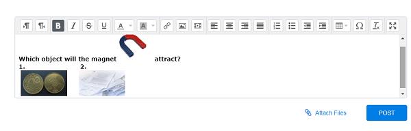 واجهة المعلم - وضع صورة داخل النص